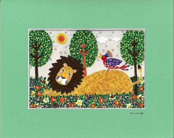 鳥とライオン