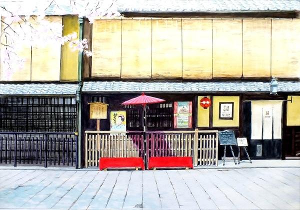 京都 ぎおん町屋の春