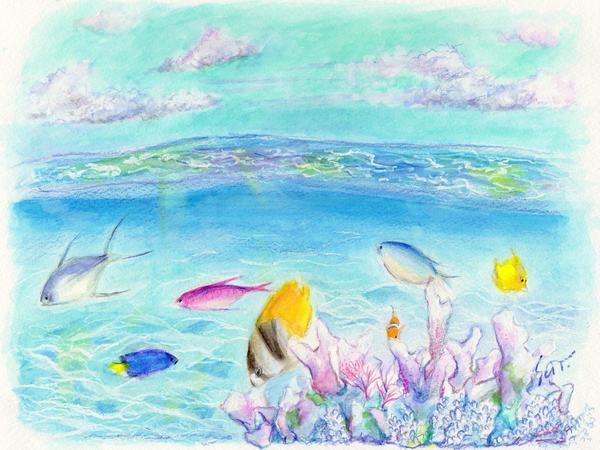 美しい色の海