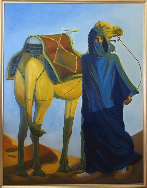 砂漠の旅人