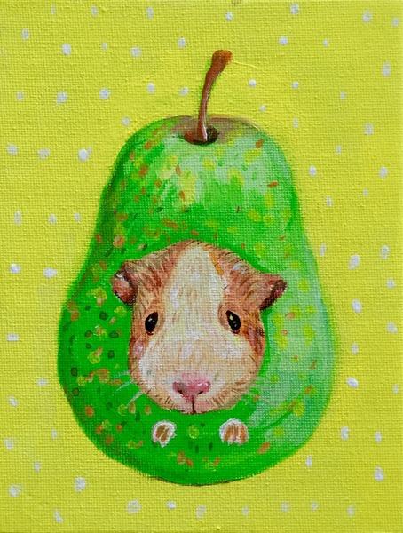 梨大好きモルモット
