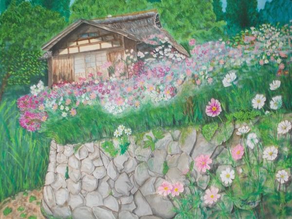 秋桜咲いて