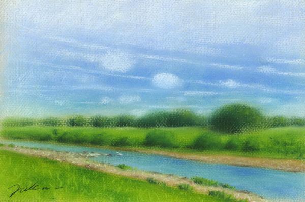 河のある風景1