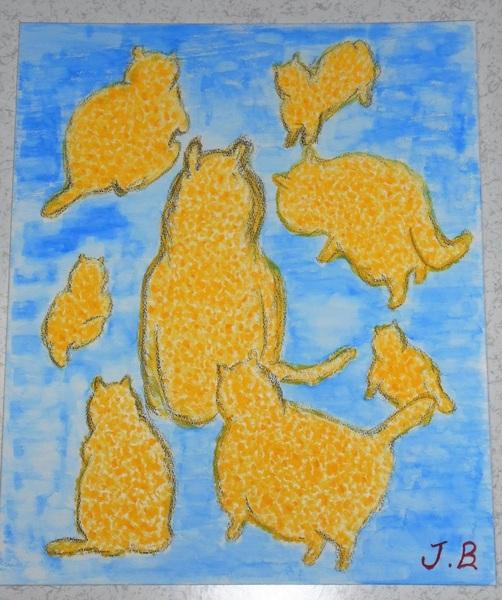 幸せを呼ぶ黄色い猫