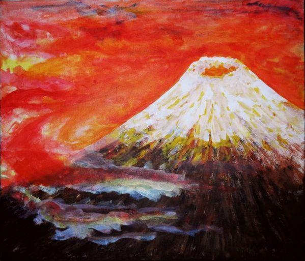 上空からの富士