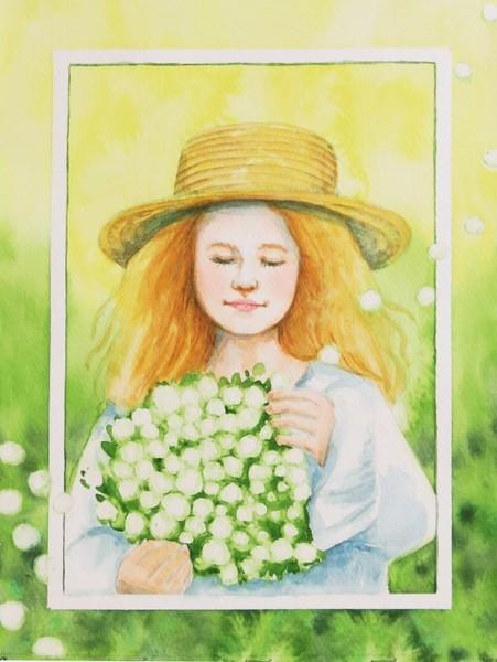 花とストローハット