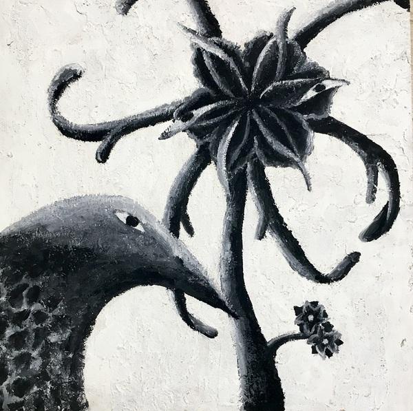 目で語る植物とカラス