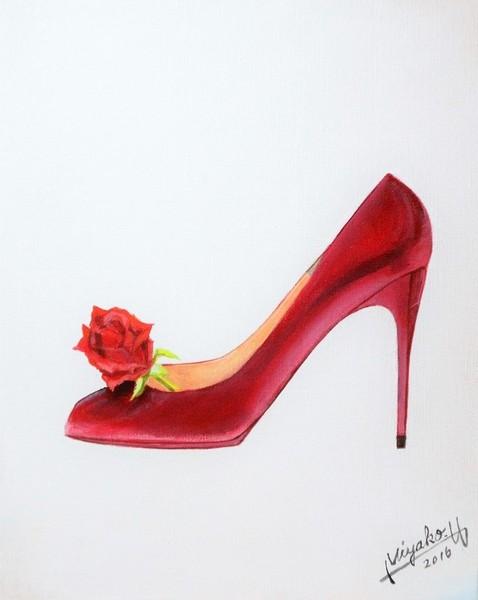 ハイヒールと薔薇