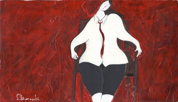 赤いネクタイの少女