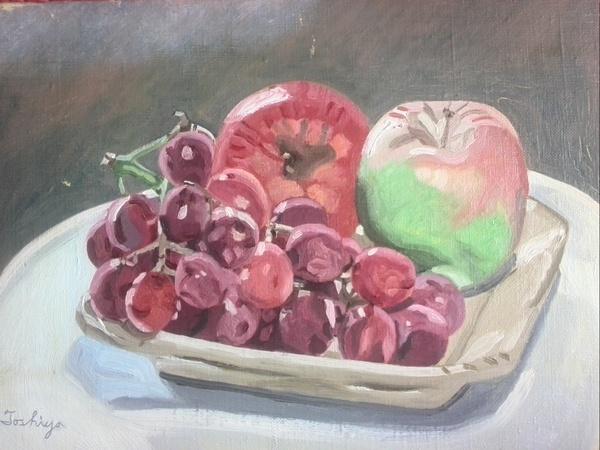 葡萄と林檎
