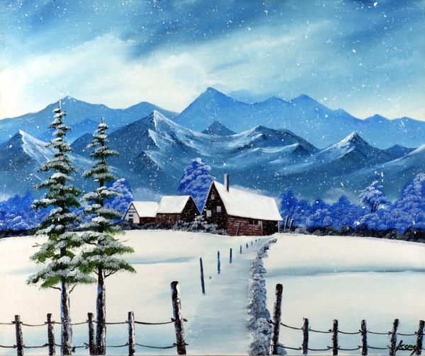 山小屋・冬