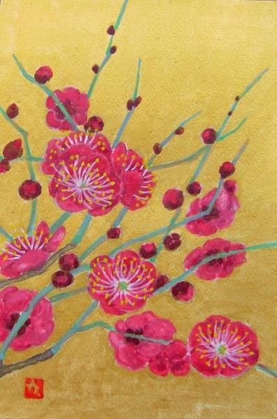 紅梅 日本画