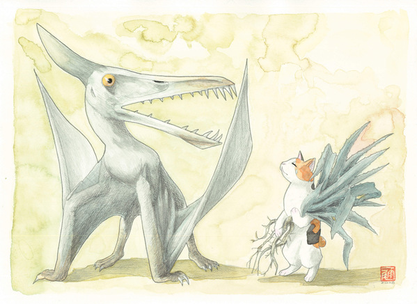 ルドダクティルスと猫