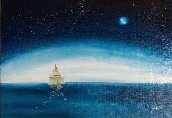 西へ往く船