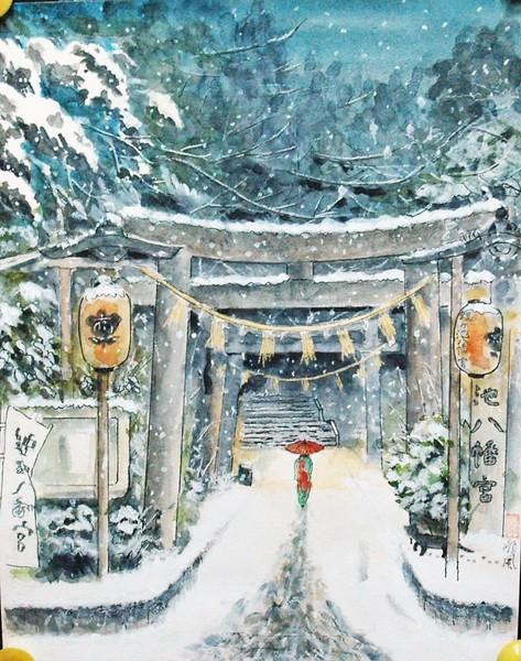 冬の蝮が池神社