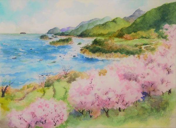 日本海の春