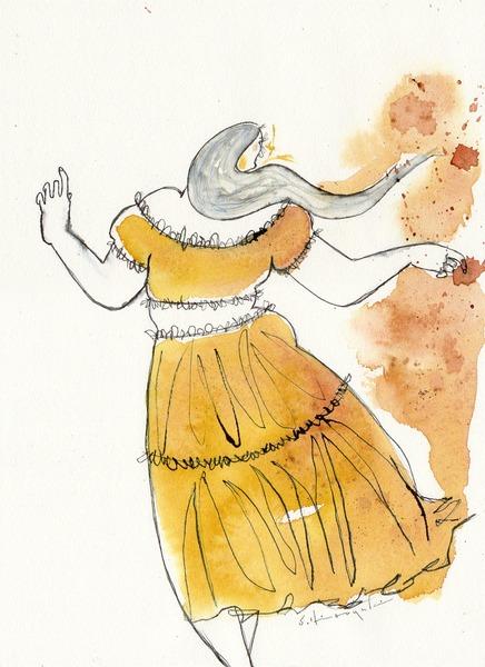 黄色いスカートの女
