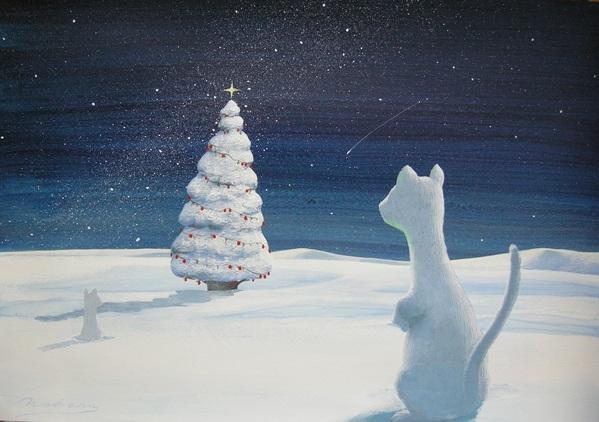 星空のクリスマスツリー