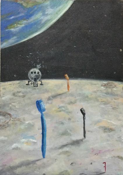 月面歯ブラシ