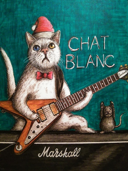 白猫ギター