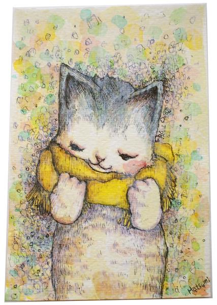 黄色いマフラーのネコ