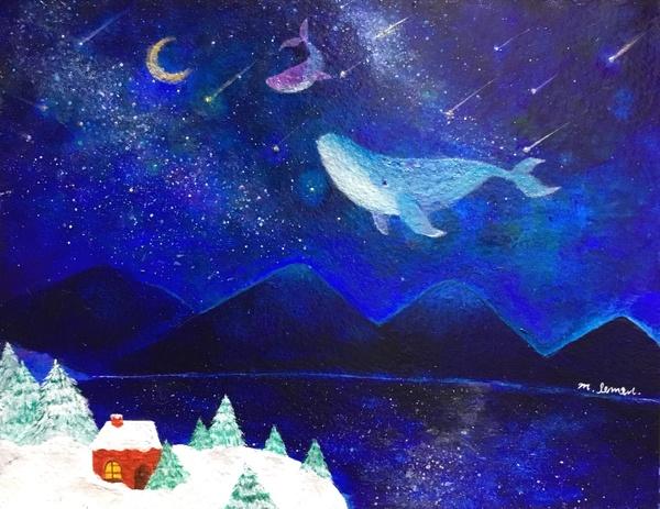 紺碧の夜を泳ぐクジラたち