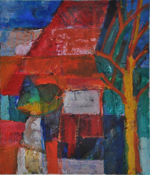 赤煉瓦屋根の家