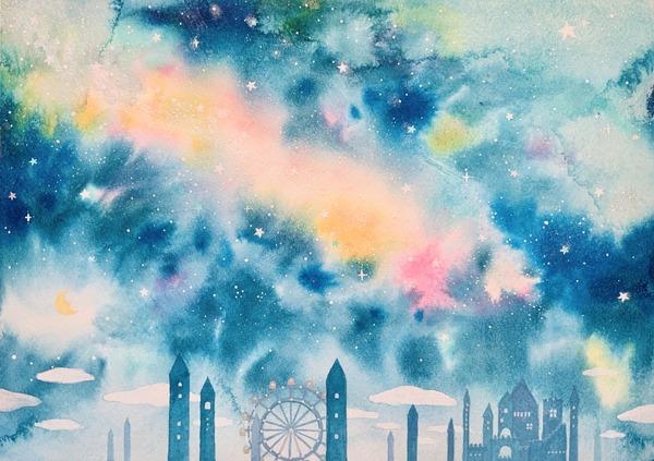 オーロラの夜空