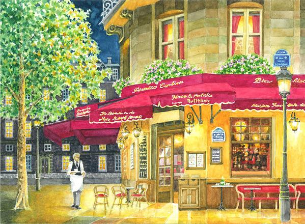 パリ、サン・ルイ島のブラッセリー