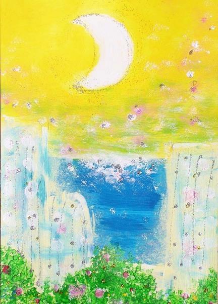 花香る風と三日月