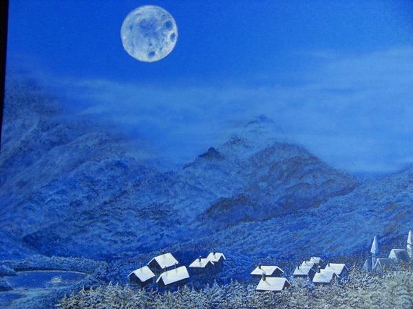 小さな冬の村