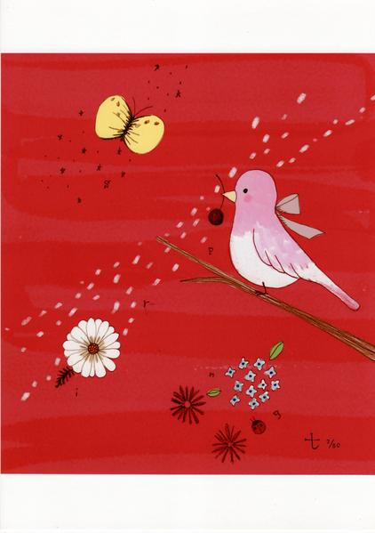 ピンクの小鳥 2/30