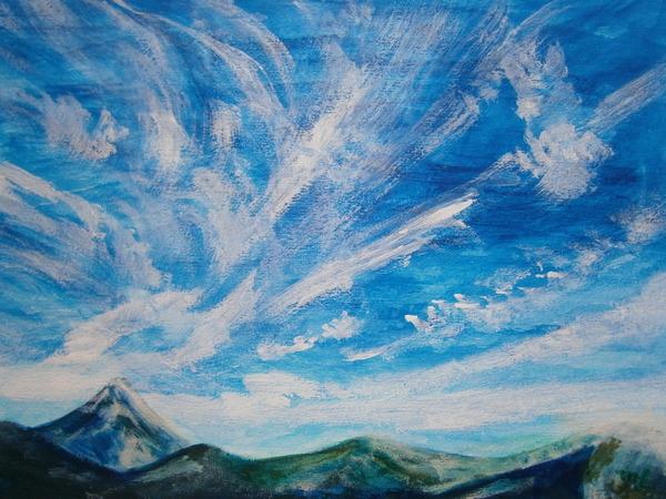 青い空と白い雲のコラボ