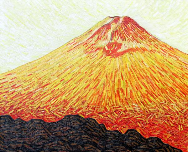 黄色の富士