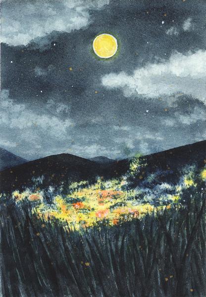 月夜のケバス街
