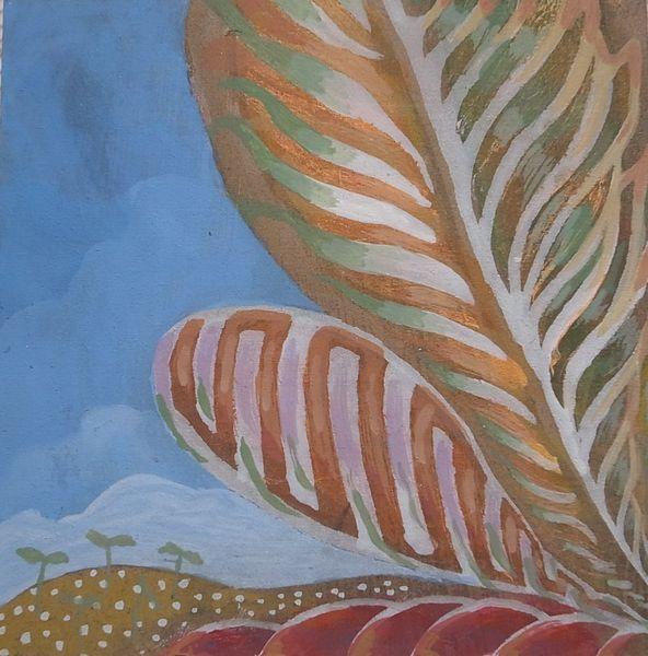 植物の抽象画