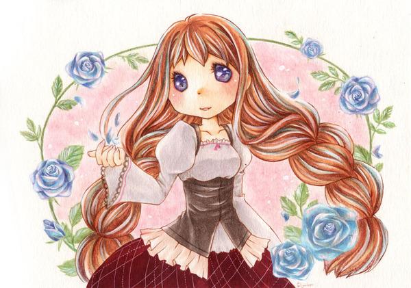 薔薇と少女