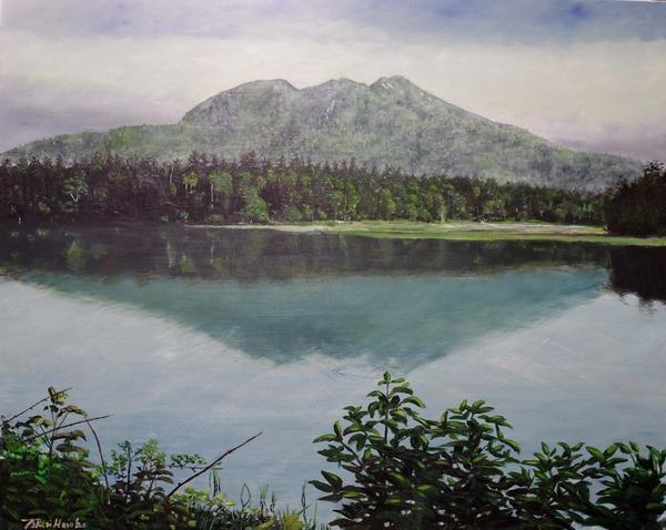 初夏の尾瀬沼と燧