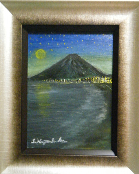 夜空に富士山