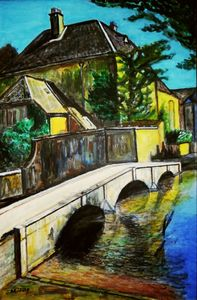 作品名:「Bourton-on the-Water」 画家名:「ToshiJapon」 コメント:「Bourton-on the-Waterの一角です。」 ART-Meter