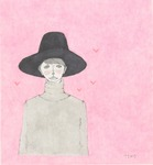 「a girl with a hat」